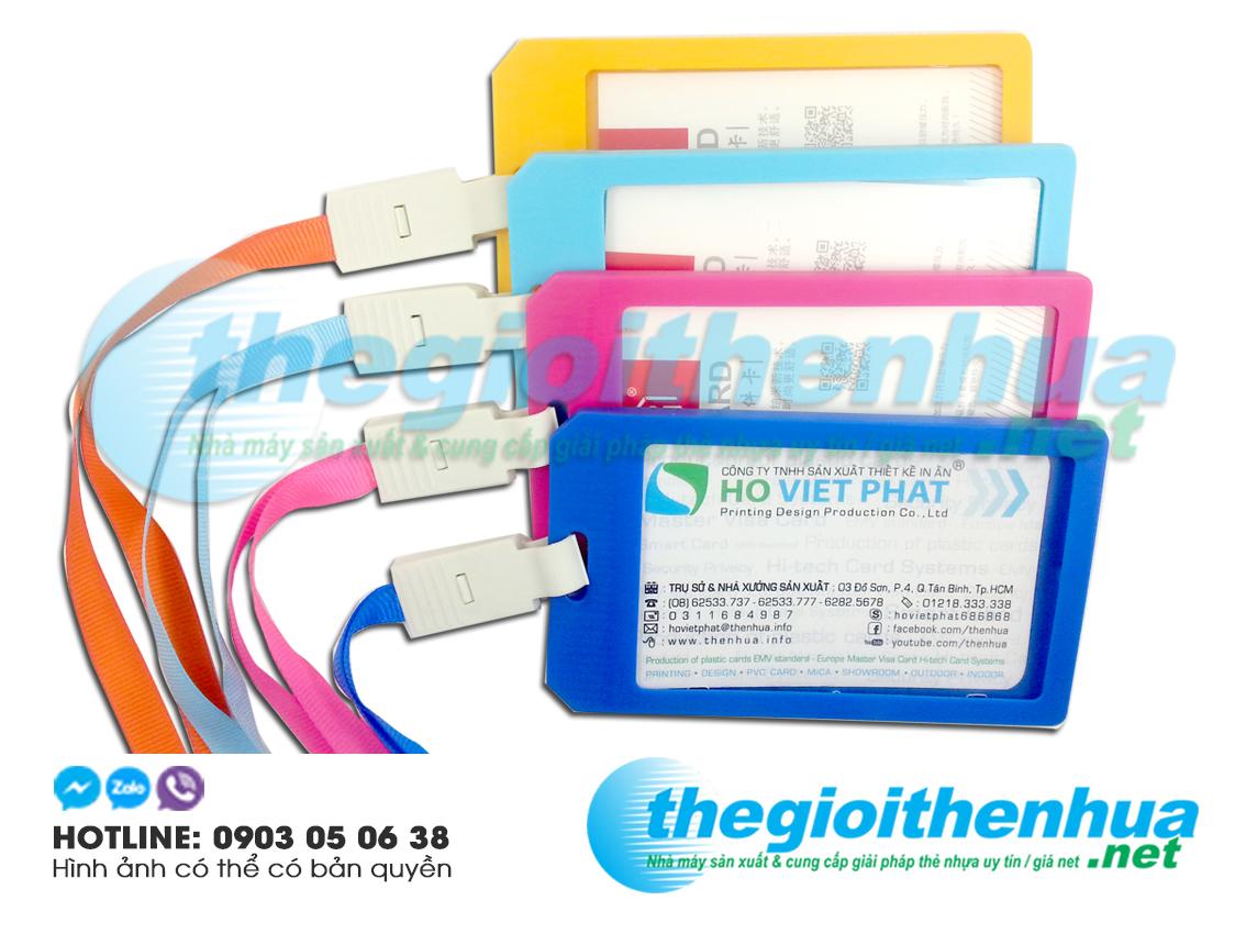 Dây đeo thẻ nhân viên công ty nhiều màu sắc tùy chọn