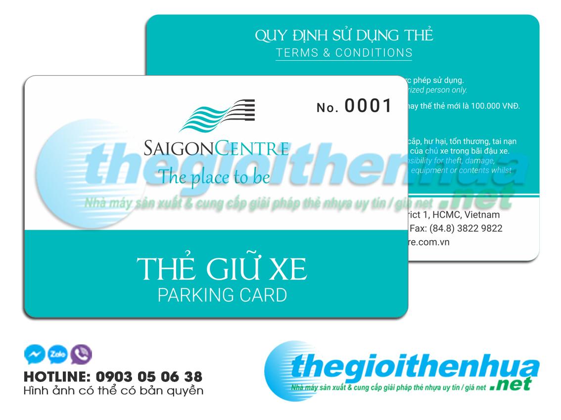 In thẻ giữ xe cho SaiGon Centre