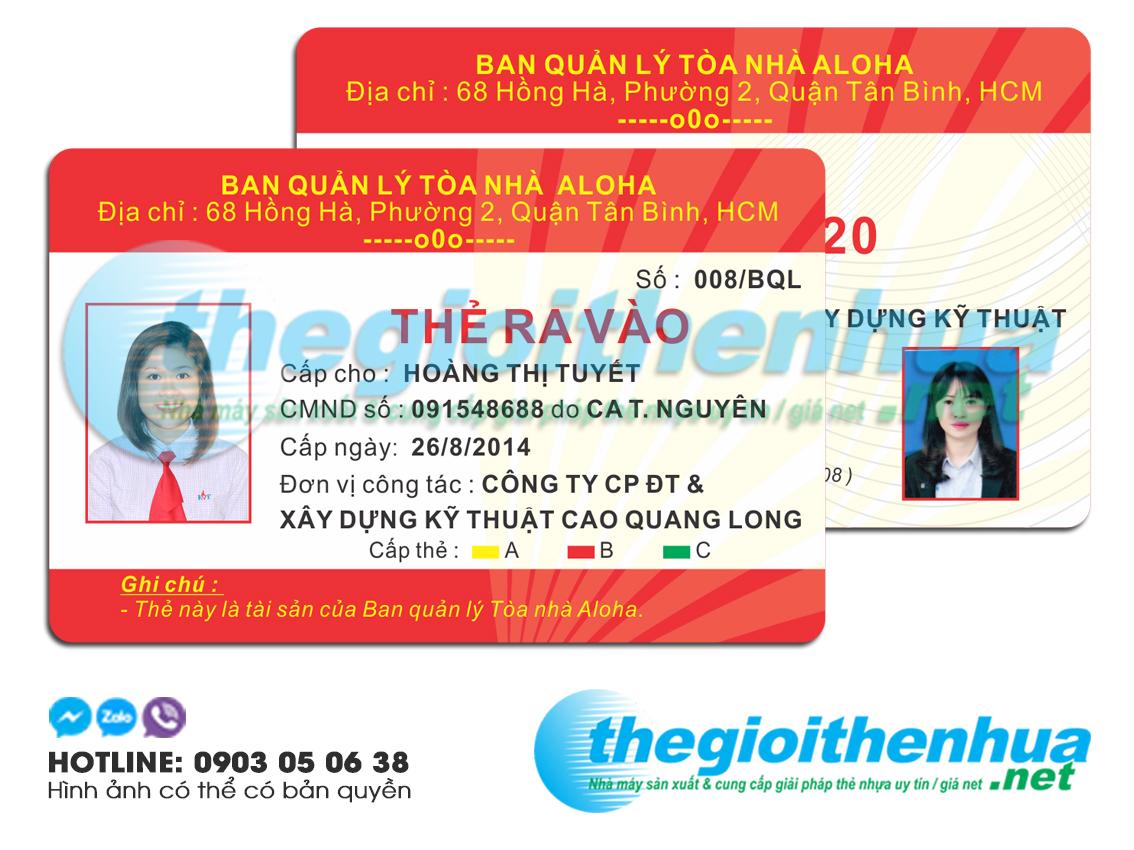 In thẻ giữ xe cho Ban quản lý tòa nhà ALOHA