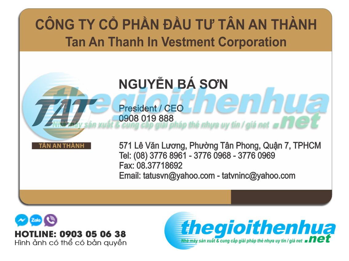 In name card giám đốc cho công ty Tân An Thành