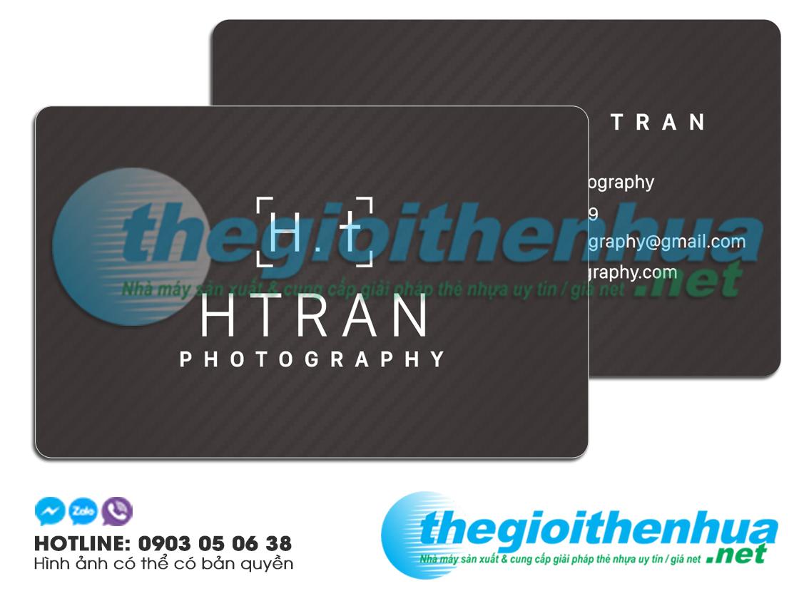 In name card nhựa cho HTRAN photography