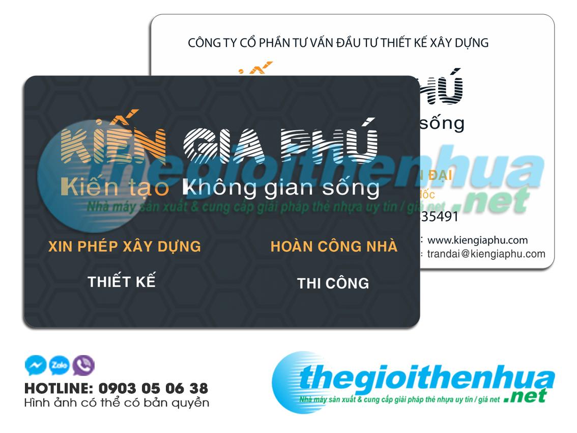 In name card nhựa cho công ty Kiến Gia Phú