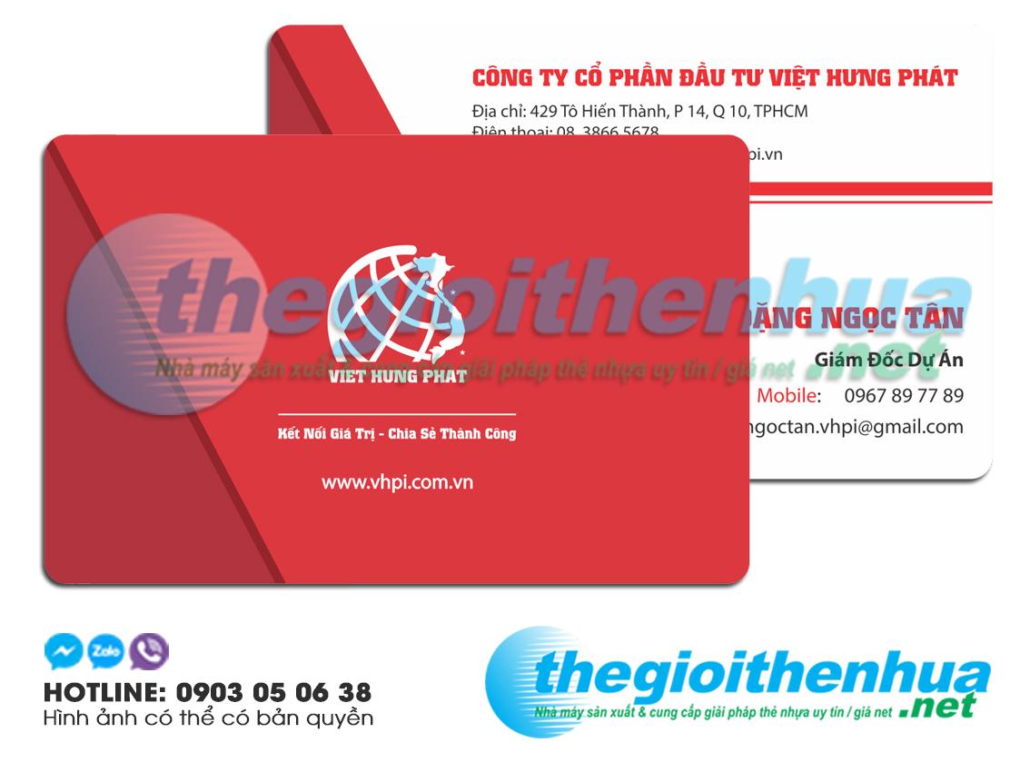 In name card cho công ty Việt Hưng Phát