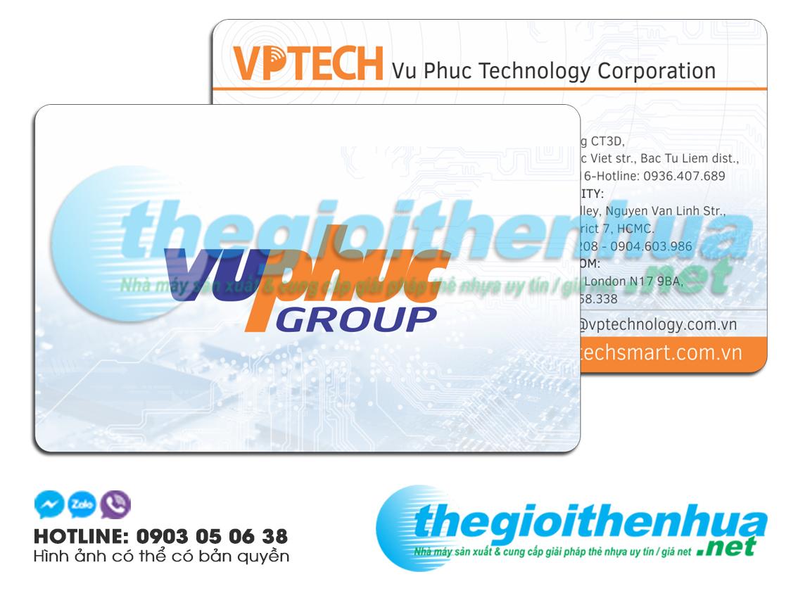 In name card nhựa cho Vu Phuc Group