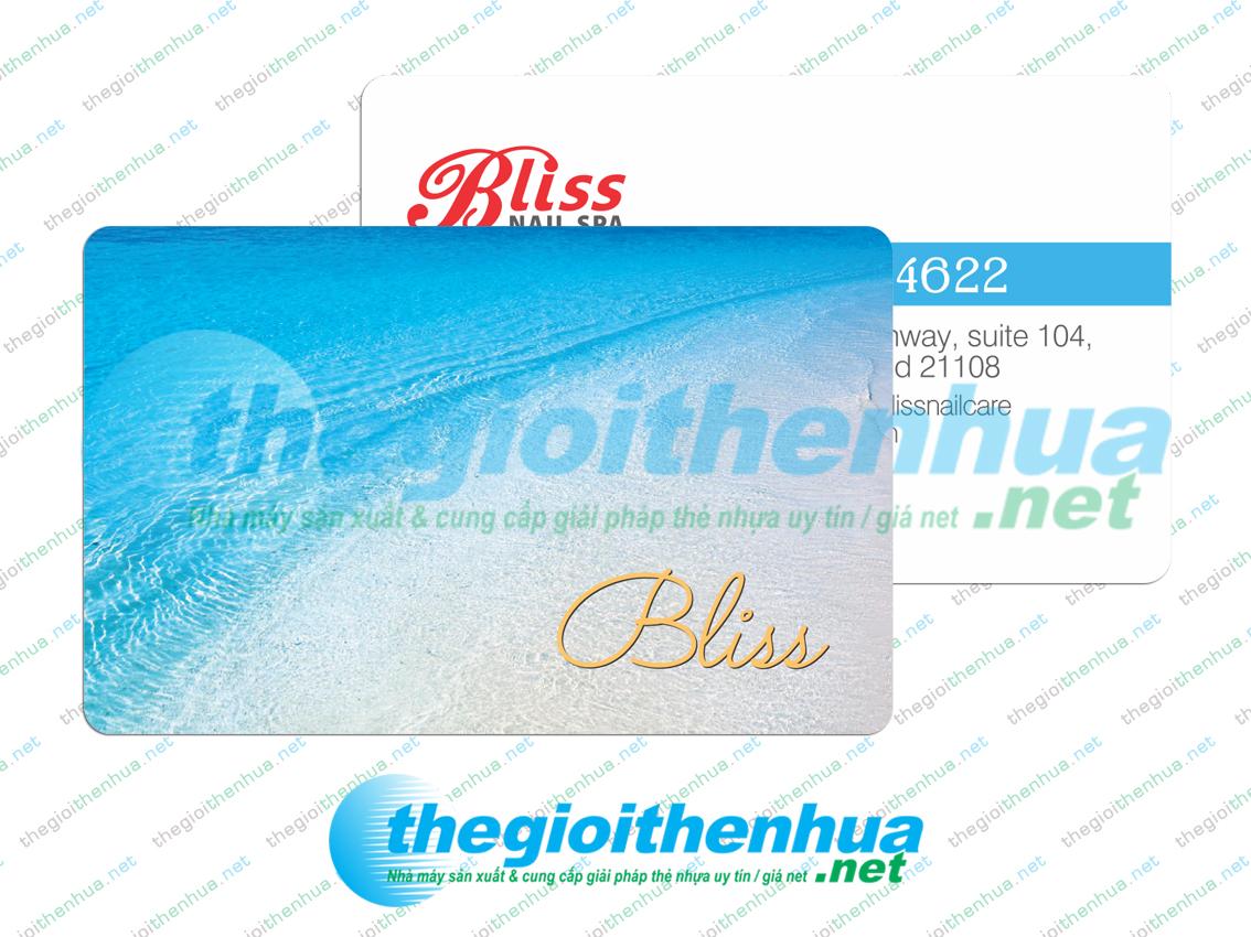 In member card cho Bliss Nailbar