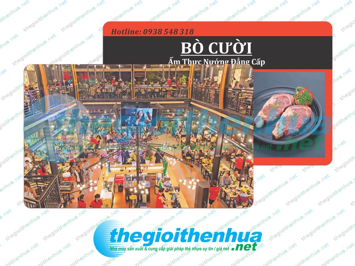 In member card cho nhà hàng Bò Cười