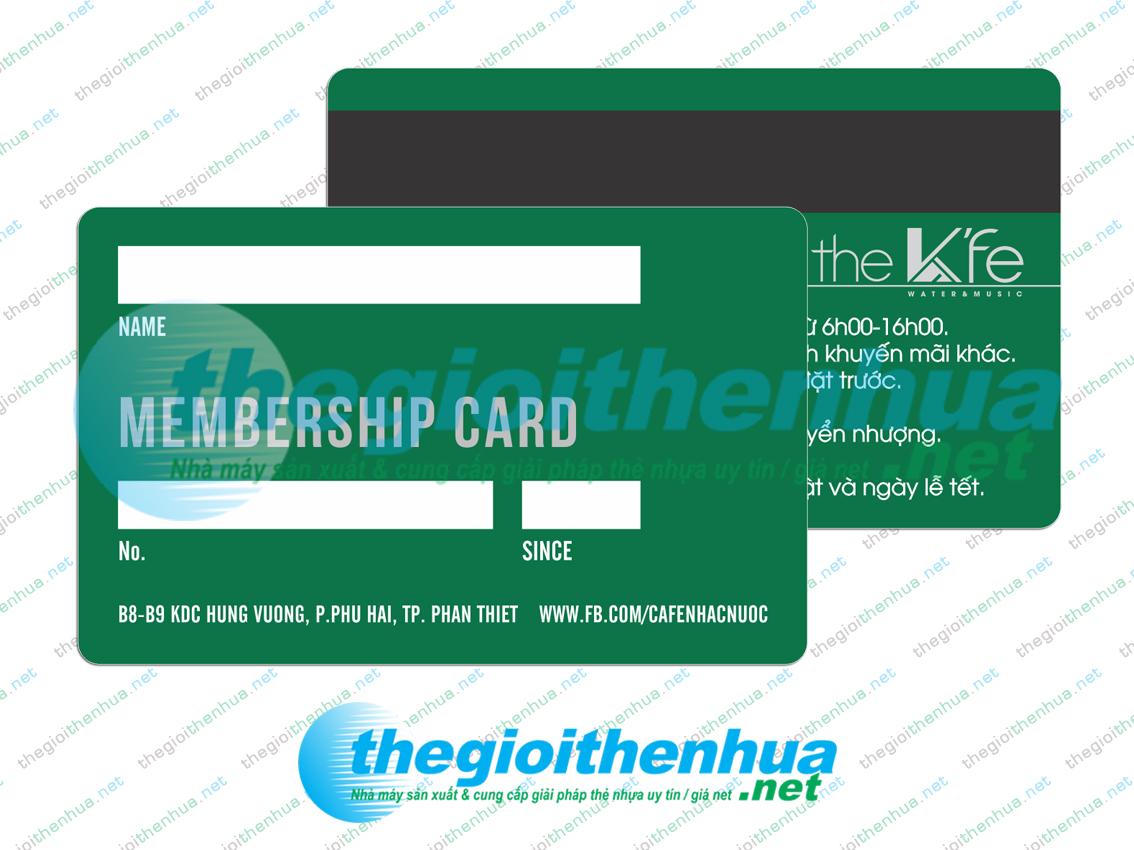 In member card cho cafe Nhạc Nước