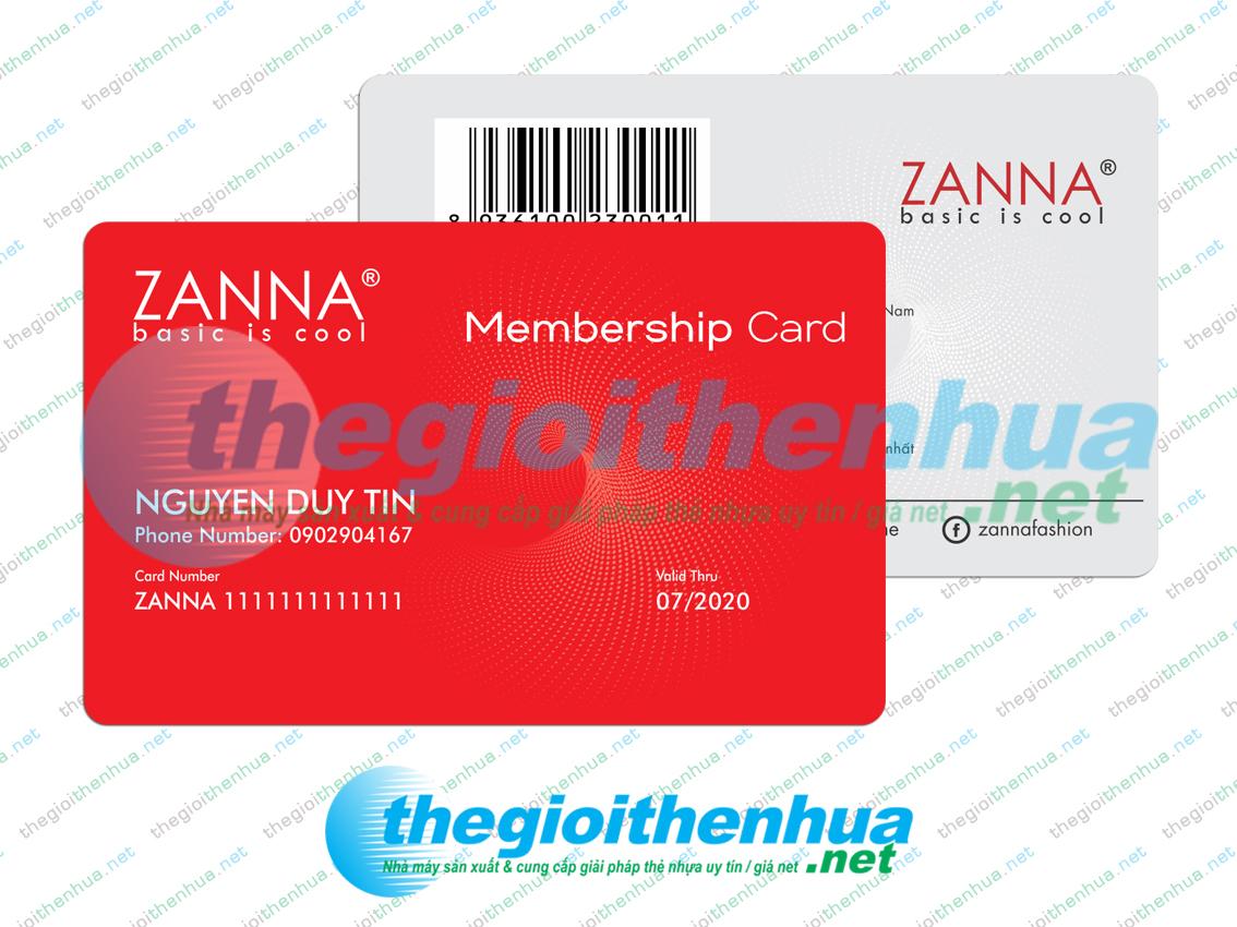 In membership card cho Zanna