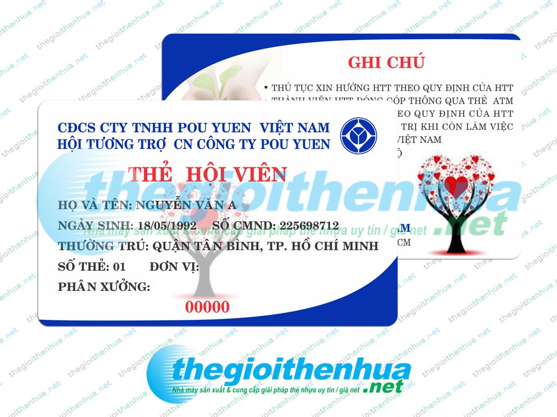 In thẻ hội viên cho Hội Tương Trợ