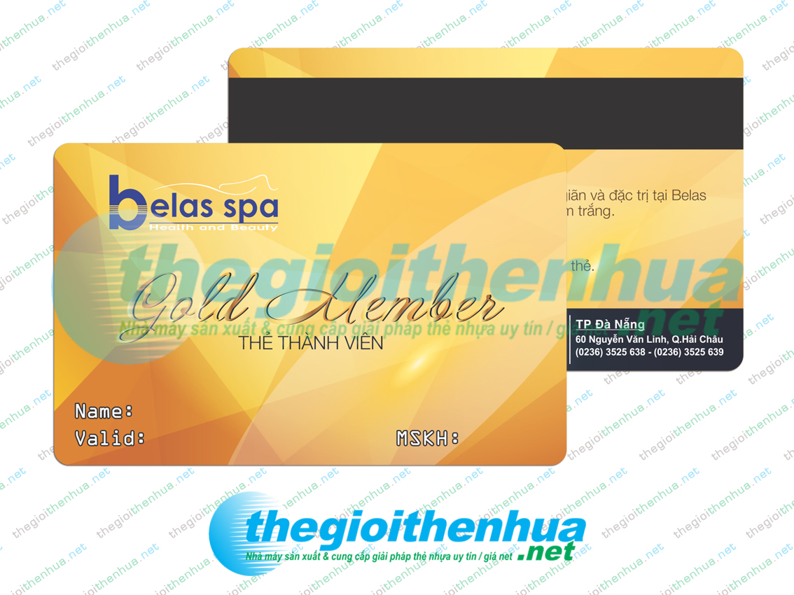In gold member card cho Belas Spa