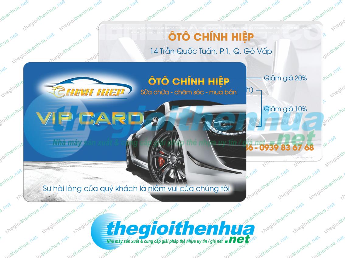 In vip card cho Ô Tô Chính Hiệp