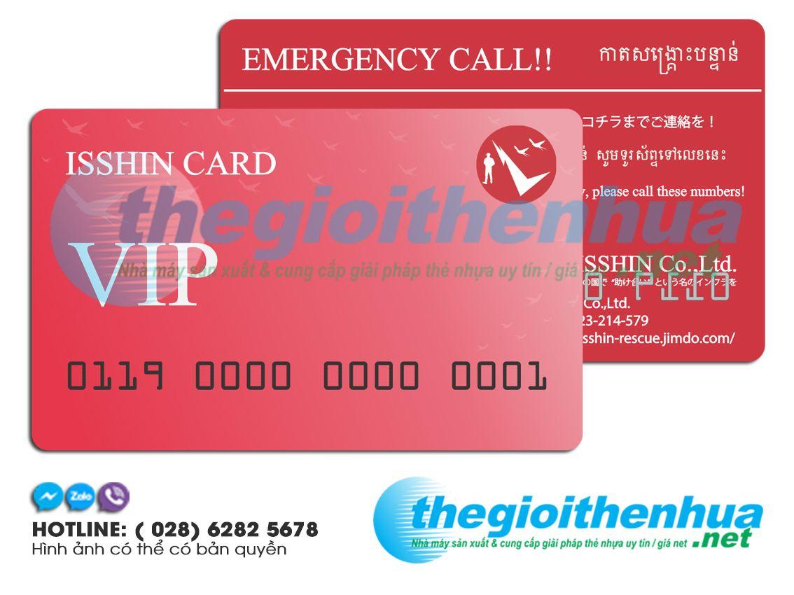 In vip card cho công ty cổ phần Isshin