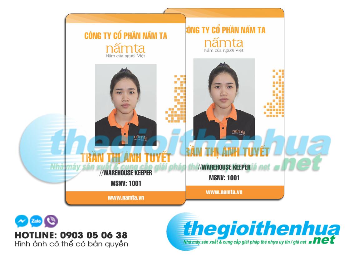 In thẻ nhân viên cho công ty cổ phần Nấm Ta
