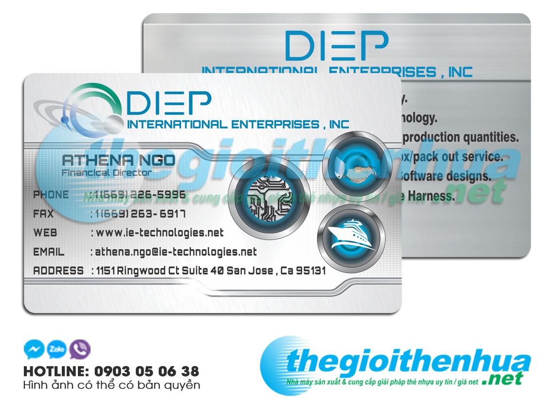 In name card nhựa cho công ty DIEP