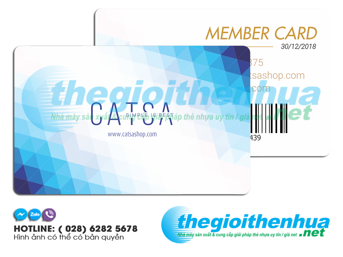 In member card cho Catsa Shop