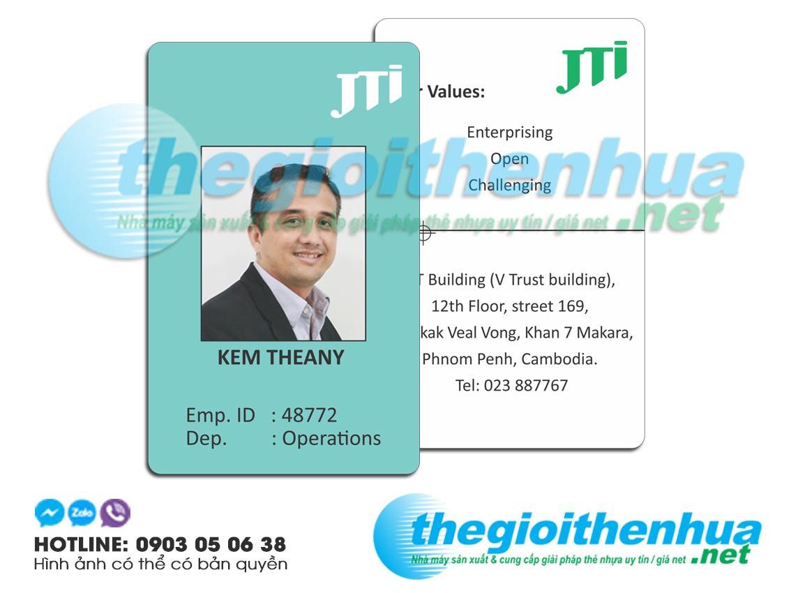 In thẻ nhân viên cho công ty JTI