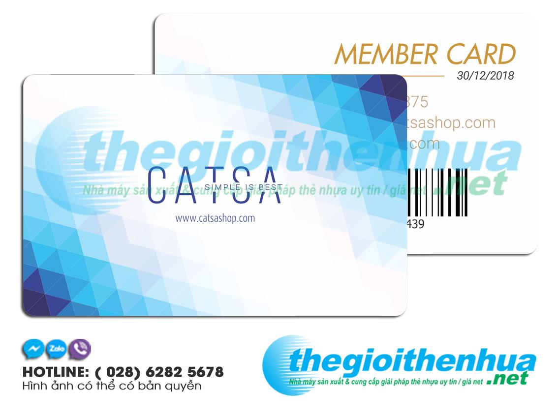 In thẻ nhựa khách hàng thành viên - Member card