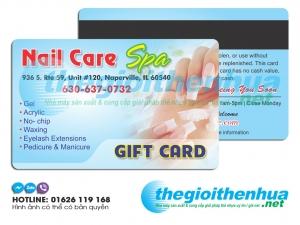 Thẻ Nail Card cho khách hàng thân thiết tại cửa hàng