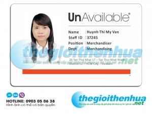 In thẻ nhân viên cho công ty Unavailable