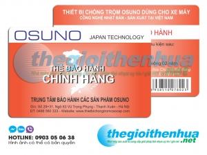 In thẻ bảo hành chính hãng các sản phẩm Osuno