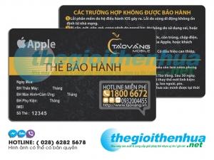 In thẻ bảo hành Táo Vàng Mobile