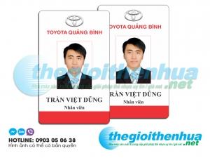 In thẻ nhân viên cho Toyota Quảng Bình
