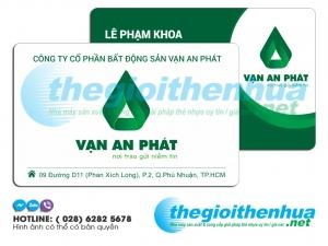 In member card cho công ty cổ phần bất động sản Vạn An Phát