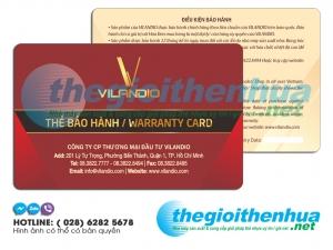 In thẻ bảo hành cho công ty VILANDIO
