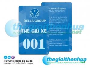 In thẻ giữ xe cho tập đoàn Della Group