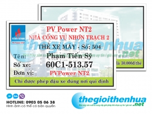 In thẻ giữ xe cho Petro VietNam