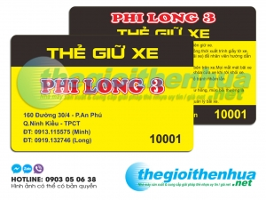In thẻ giữ xe cho Phi Long 3