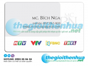 In name card cho MC Bích Nga