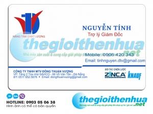 In name card giám đốc cho công ty TNHH MTV Đông Thuận Vương