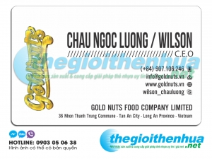 In name card cho Gold Nuts food company limited