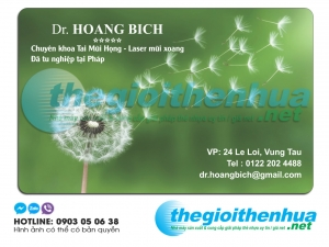 In name card cho Dr.Hoang Bich