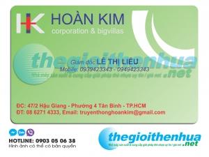 In name card cho công ty Hoàn Kim