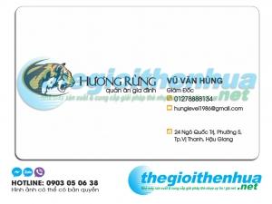 In name card giám đốc cho quán ăn gia đình Hương Rừng