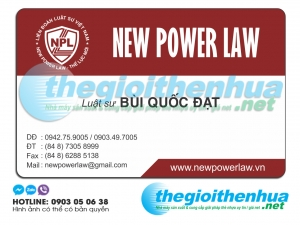 In name card trong suốt cho New Power Law