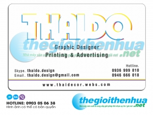 In name card trong suốt cho THAIDO Graphic Designer Printing & Adversiting