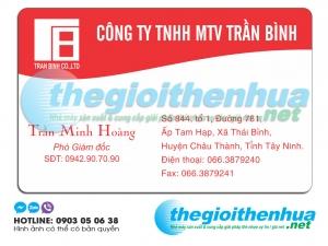 In name card giám đốc cho công ty TNHH MTV Trần Bình