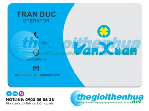 In name card trong suốt cho Tran Duc Operator
