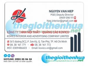 In name card cho công ty TNHH Nội Thất- Quảng Cáo KOVICO