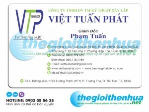 In name card giám đốc cho công ty TNHH DV TM Kỹ Thuật Xây Lắp Việt Tuấn Phát