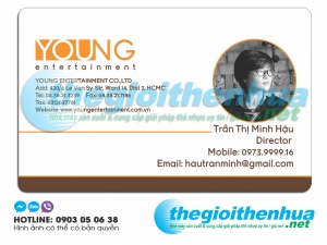 In name card học viên cho công ty Young Entertainment