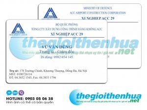 In name card nhựa cho Xí nghiệp ACC 29