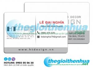 In name card nhựa cho công ty HT Design