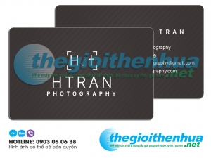 In name card nhựa cho HTRAN photography