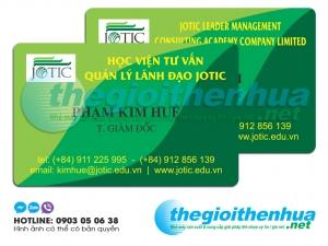 In name card nhựa cho Học Viện Tư Vấn Quản Lý Lãnh Đạo Jotic