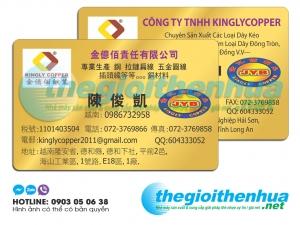 In name card nhựa cho công ty TNHH Kinglycopper