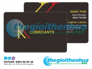 In name card nhựa cho KK Lubricants